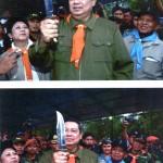 President Susilo Bambang Yudhoyono with    T.Kardin Knife